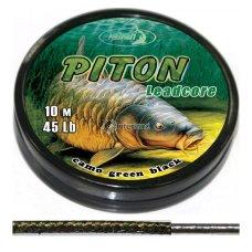 KAT - Lead core PITON camo green black 35Lb 10 m