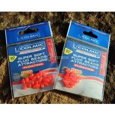 COL - Silikonske perle crvene - fluo vel. L - PE50F