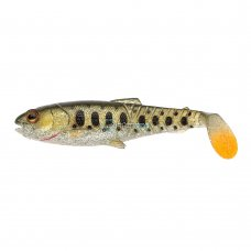 SG - Sil. Craft Cannibal Paddletail 12.5cm 20g Olive pearl silver smolt