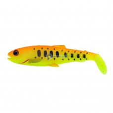 SG - Sil. Craft Cannibal Paddletail 8.5 cm 7g Golden ambulance
