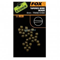 FOX - Edges tapered bore beads x30 CAC557 - 4mm