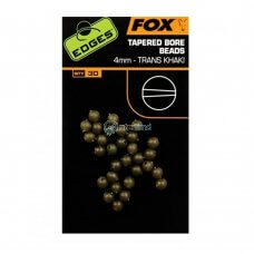 FOX - Edges tapered bore beads x30 CAC558 - 6mm