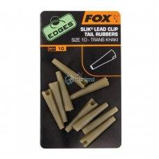 FOX - Edges Size 10 Slik Lead Clip Tail Rubber CAC480