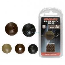 STB - Gumene perle 4mm smeđe - 09398